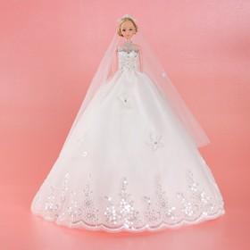 Кукла на подставке «Принцесса», белое платье с кружевом Ош