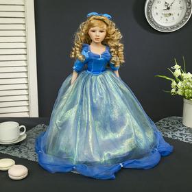 Кукла коллекционная керамика 'Мальвина в небесно-голубом платье' 45 см Ош