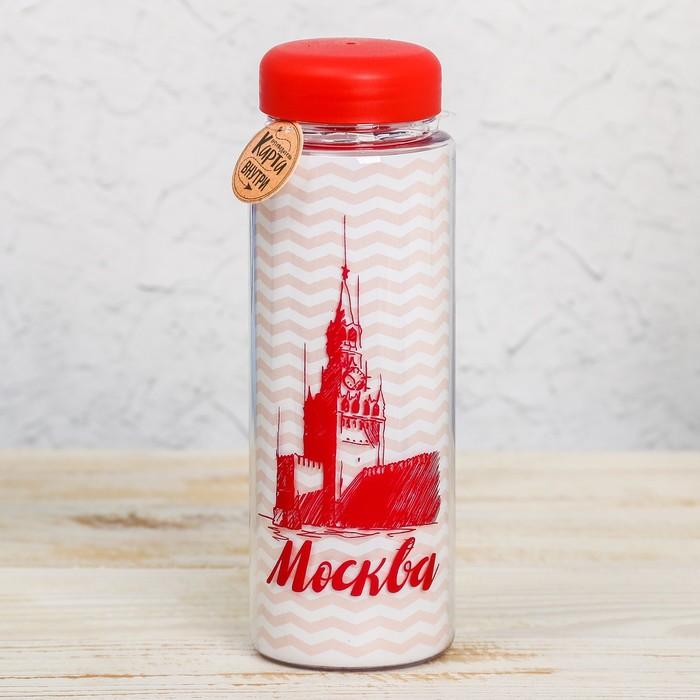 Бутылка для воды Москва. Спасская башня, 500 мл