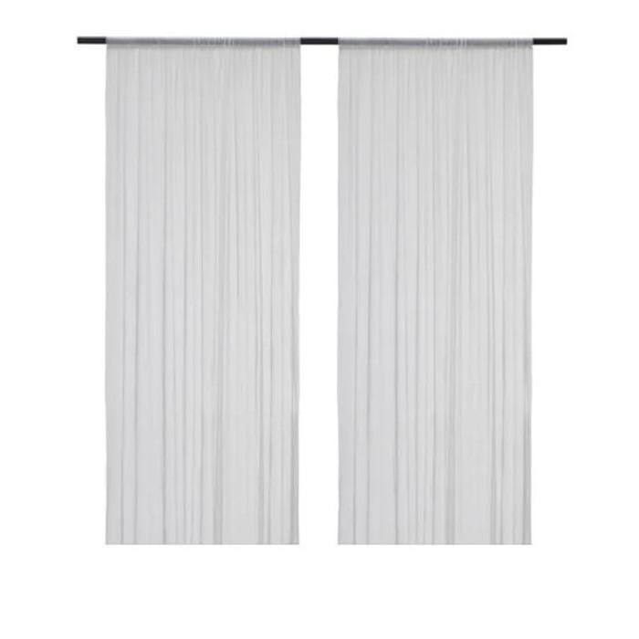 Гардины ХИЛЬДРАН, размер 145х300 см, цвет белый