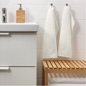 Комплект махровых полотенец ГЭРЕН, 30 × 50 см - 2 шт, белый