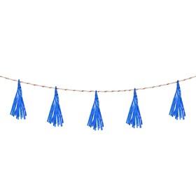 Лента тассел, набор 5 шт., цвет синий Ош