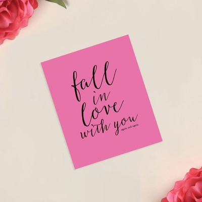 Открытка-инстаграм Fall in love, 8 × 10 см - Фото 1