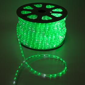 LED шнур 13 мм, круг, 100 м, кажд.6 мерц, 2W-LED/м-36-220V. + н-р д/подкл, ЗЕЛЕНЫЙ Ош