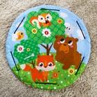 Развивающий коврик - сумка для игрушек «Зверята», d100см