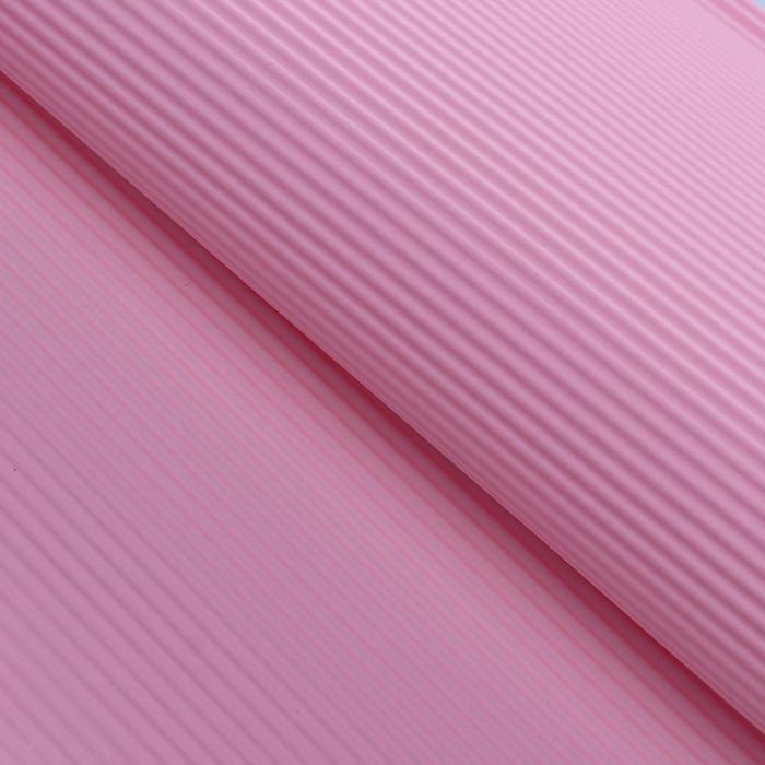"""Бумага гофрированная """"Однотонная"""", нежно-розовая, 50 х 70 см"""