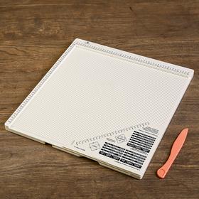 Доска для биговки многофункциональная 'Рукоделие' 30.5x30.5см Ош