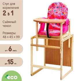 Стульчик для кормления «Бутуз», трансформер, цвет розовый
