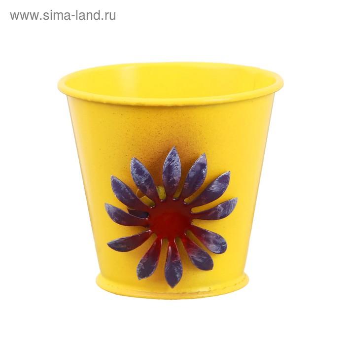 Горшок малый «Цветочек», цвет жёлтый