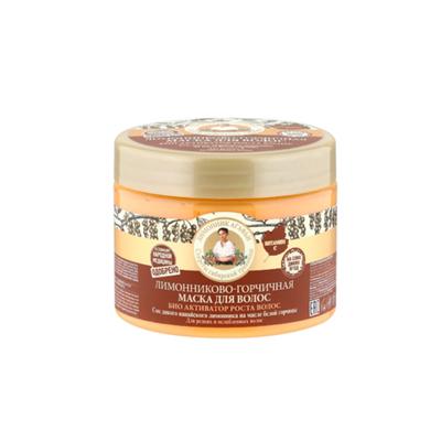 Маска для волос Рецепты Бабушки Агафьи «BIO-активатор роста волос» лимонниково-горчичная, 300 мл - Фото 1