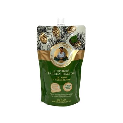 Бальзам Рецепты бабушки Агафьи «Кедровый», питание и укрепление, 500 мл - Фото 1