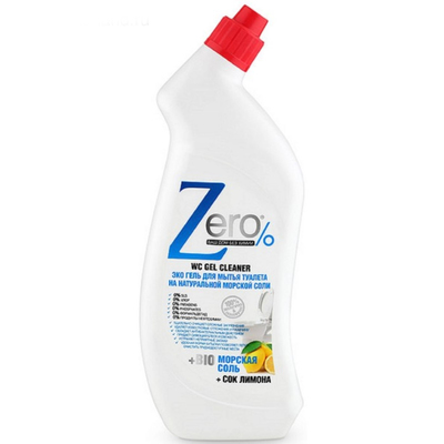 Гель для мытья туалета Zero морская соль + лимон, 750 мл