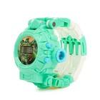 Робот «Часы», трансформируется, с функцией проектора, цвет бирюзовый - Фото 4