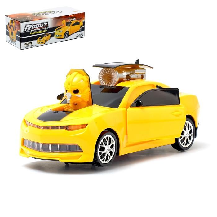 Машина «Автобот», трансформируется, световые и звуковые эффекты, работает от батареек