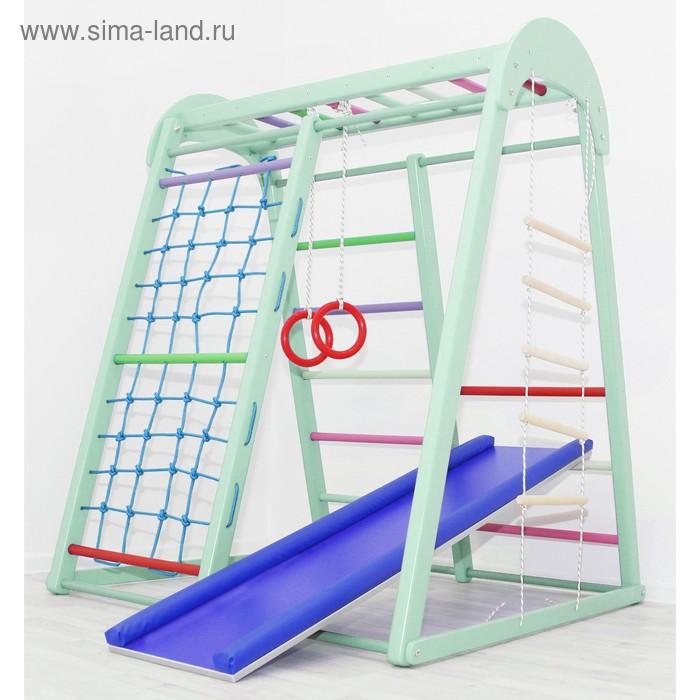 Купить со скидкой Детский спортивный комплекс Tiny Champion, 1200 × 1250 × 1500 мм, цвет фисташка
