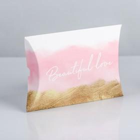 Коробка складная фигурная Beautiful love, 11 × 8 × 2 см