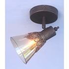 Светильник Septimus 1x40Вт E14 коричневый 15x11x17,5см