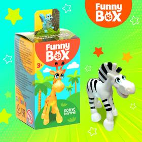 Игровой набор Funny Box «Зоопарк»: карточка, фигурка, лист наклеек Ош