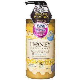 Гель для душа увлажняющий FUNS Honey Milk, с экстрактом мёда и молока, 500 мл