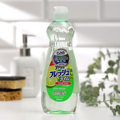 Жидкость для мытья посуды овощей и фруктов FUNS Свежий лайм, 600 мл - Фото 1
