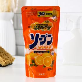 Жидкость для мытья посуды, овощей и фруктов Kaneyo, сладкий апельсин, 500 мл