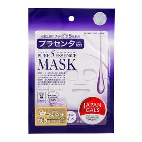 Маска с плацентой JAPAN GALS Pure5 Essence, 1 шт