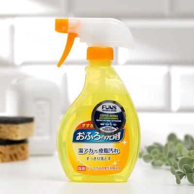 Спрей-пенка чистящая для ванной комнаты FUNS с ароматом апельсина и мяты, 380 мл - Фото 1