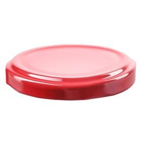 Крышка металлическая, d = 66 мм, твист-офф, цвет красный