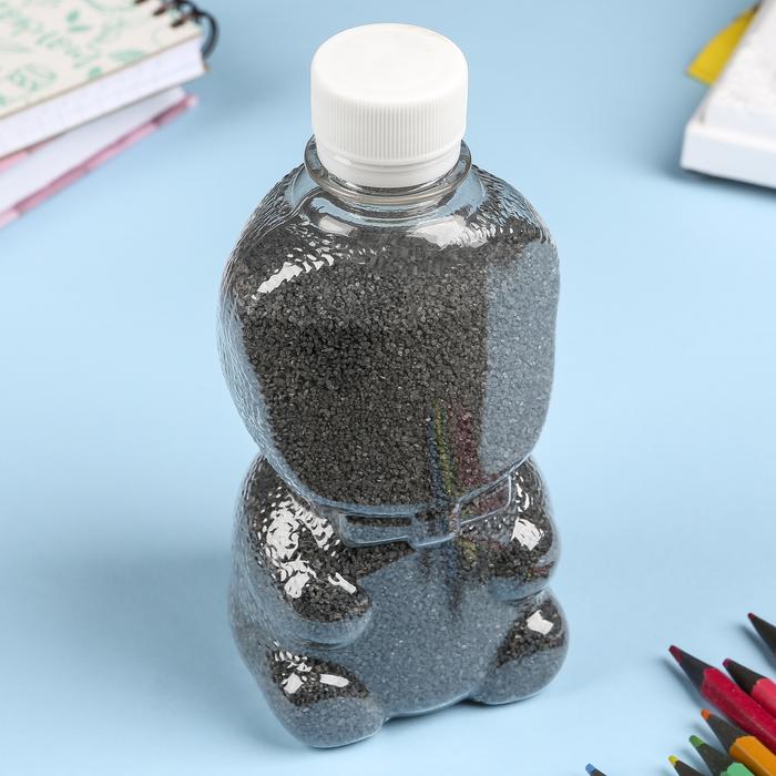 """Песок цветной в бутылках """"Чёрный"""" 500 гр"""