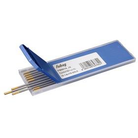 Вольфрамовые электроды Fubag D1.6x175мм, gold, WL15, 10 шт.