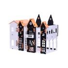 Домик для кукол «Замок Джульетты» с мебелью, бело-чёрный - Фото 1