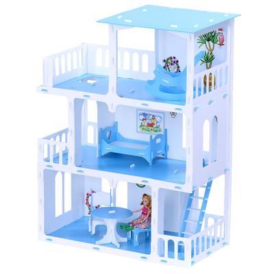 Домик для кукол «Дом Маргарита» с мебелью, бело-голубой - Фото 1