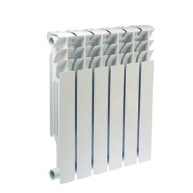 Радиатор биметаллический Oasis, 500 × 100 мм, 6 секций
