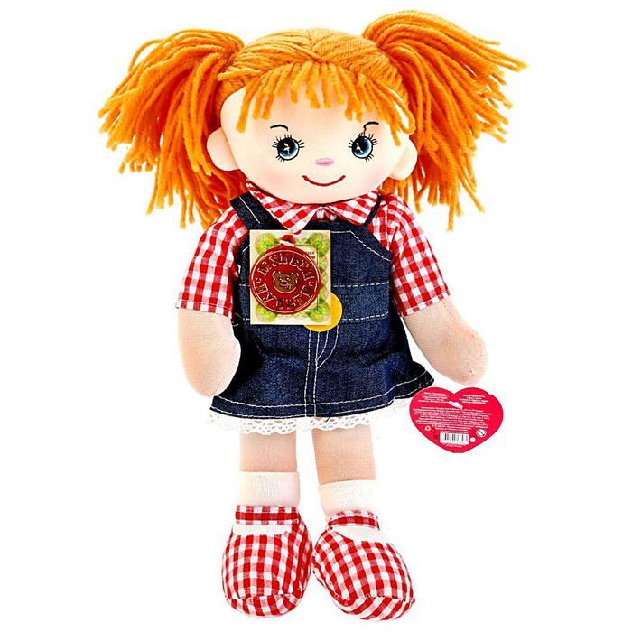 Мягкая музыкальная кукла, рассказывает стихи А. Барто и поёт песни, 35 см