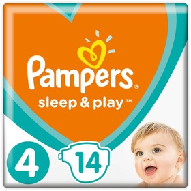 Подгузники Pampers Sleep&Play Maxi (9-14 кг), 14 шт Ош