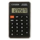 Калькулятор карманный 8-разрядный, 69х115х23 мм, питание от батарейки, чёрный LC310NR