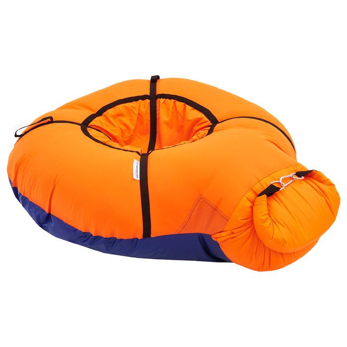 Надувные санки-бубинг, d=100 см, цвет оранжевый
