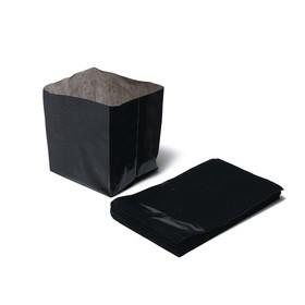 Пакет для рассады, 0.6 л, 8 × 14 см, толщина 50 мкм, с перфорацией, чёрный
