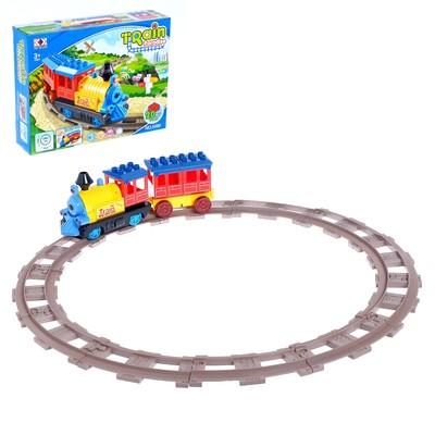 Железная дорога-конструктор «Автоматический паровозик», световые и звуковые эффекты - Фото 1