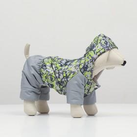 Комбинезон 'Омон' для собак, размер S (ДС 20-22 см, ОШ 26 см, ОГ 30-34 см) Ош