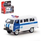 Машина металлическая «Микроавтобус ДПС», масштаб 1:50, инерция