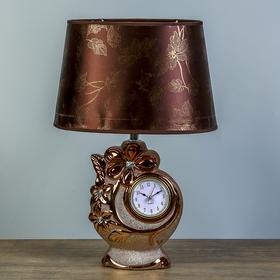 """Настольная лампа """"Лауретта"""" 1х40Вт E14 золото-коричневый 25х18х39см."""