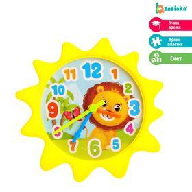 Часики игровые «Животные», учим время, считаем, цвета МИКС, по методике Монтессори