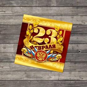 Открытка поздравительная «С 23 февраля», орден, 7 × 7 см Ош