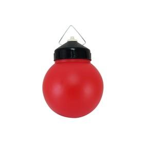 Светильник TDM НСП 03-60-027 У1, шар, пластик, красный, IP44 Ош