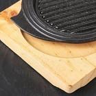 Сковорода «Круг. Восток Гриль», d=15 см, на деревянной подставке - Фото 3
