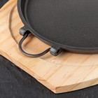 Сковорода «Круг», со съемными ручками, на деревянной подставке - Фото 3