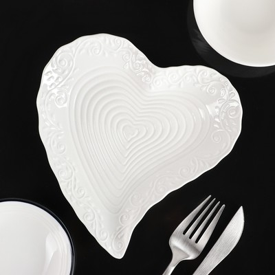 Блюдо сервировочное «Сердце», 17×16×2 см - Фото 1