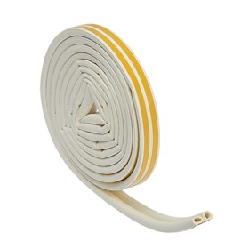 Уплотнитель резиновый TUNDRA krep, профиль D, размер 9 х 8 мм, белый, в упаковке 6 м Ош