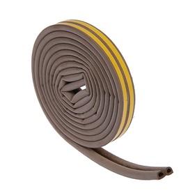 Уплотнитель резиновый TUNDRA krep, профиль D, размер 9 х 8 мм, коричневый, в упаковке 6 м Ош